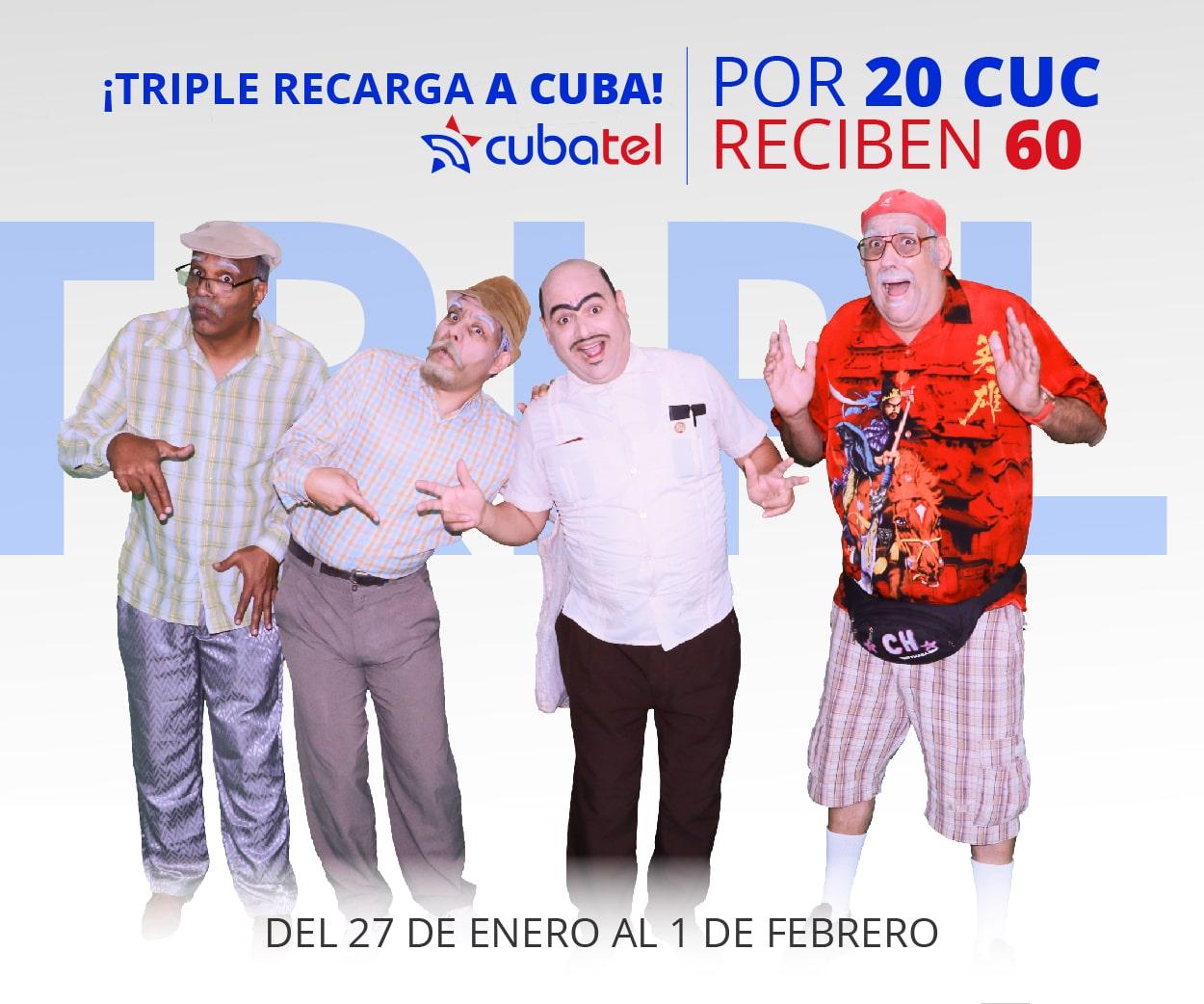 Recargas a Cuba