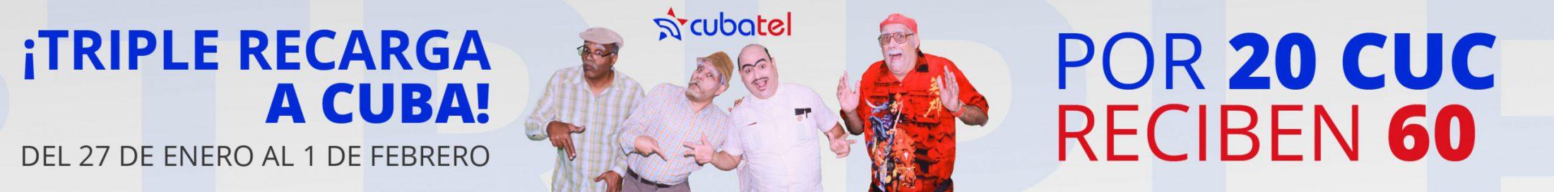 Recarga triple a Cuba