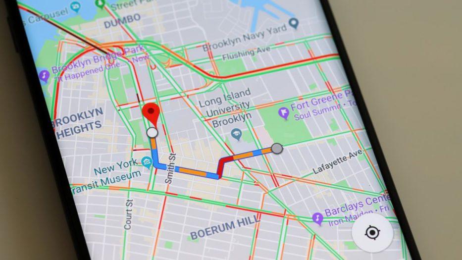 La ubicación de los semáforos se puede ver como un pequeño ícono