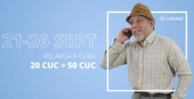 ¡La revancha! Recarga a Cuba con bono de 30 CUC