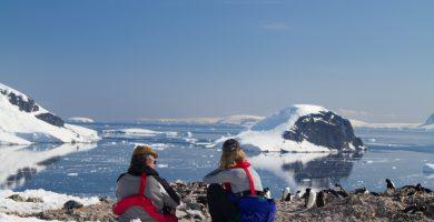 tomar vuelos de lujo a la Antártida, y sólo para ver el paisaje