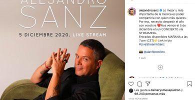 el concierto será retransmitido en directo vía streaming desde Madrid
