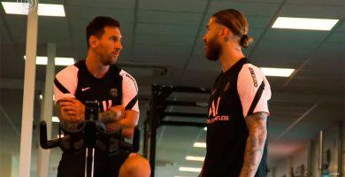 Messi y Sergio Ramos