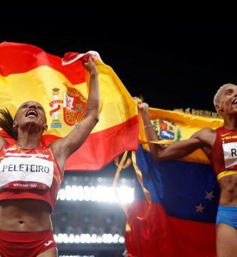 Un cubano detrás del récord olímpico del triple salto femenino