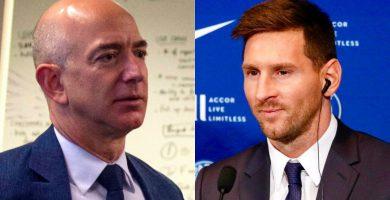 Conexión de Jeff Bezos con Lionel Messi